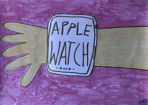 """Kunstwerk """"Watch"""" Gemälde Einzelstück Unikat - ARTlistic"""