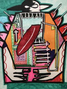 """Kunstwerk """"Huxleymachine"""" Gemälde Einzelstück Unikat - ARTlistic"""