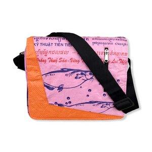 Schultertasche Ri81 recycelter Reissack - Beadbags