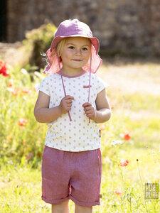 Kinder Sonnenhut Mini-Flapper mit UV-Schutz reines Leinen - Pure-Pure