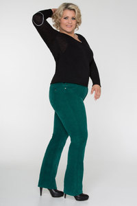 Diva-Jeans CORD * green - Pearls of Laja