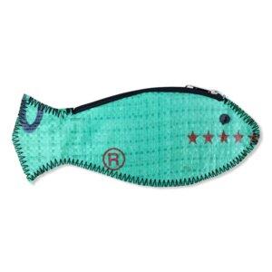 Fisch Geldbörse Ri80 recycelter Reissack - Beadbags
