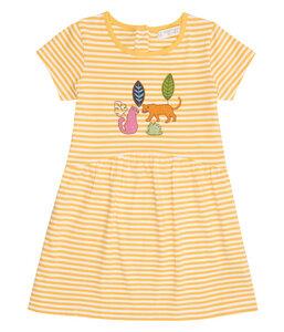 Mädchen Sommerkleid gelb geringelt Biologisch Sense Organics - sense-organics