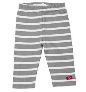 Baby Leggings grau/geringelt  - People Wear Organic