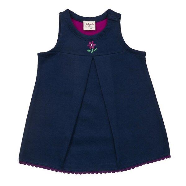 people wear organic baby kleid blau mit kleiner. Black Bedroom Furniture Sets. Home Design Ideas