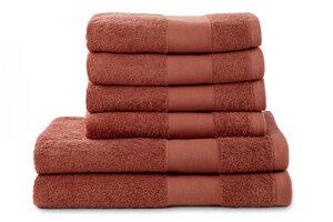 Soft Cotton 6-er Set Hand u. Duschtuchset 100% Bio-Baumwolle  - jilda-tex