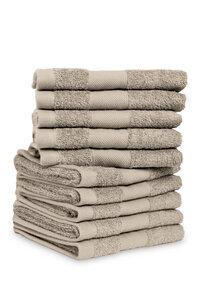 Soft Cotton 10er Set Gästehandtuch 100% Bio-Baumwolle 10x 30x50cm 500gsm - jilda-tex