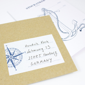 Aufkleber Kompass - Bow & Hummingbird