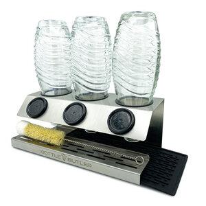 BOTTLE BUTLER Flaschenhalter Set inkl. Flaschenbürste & Abtropfmatte - Home & Joy