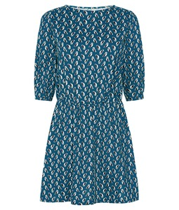 Claudia Owl Dress Turquoise - People Tree