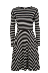 Lola Stripe Dress Black - People Tree
