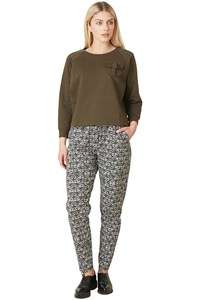 Tasha Jersey Trousers Black Print - People Tree
