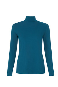 May Turtle Neck Top Turquoise - People Tree