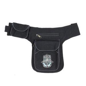 handgenähte Gürteltasche mit verstellbarem Gürtel - short'n'pietz