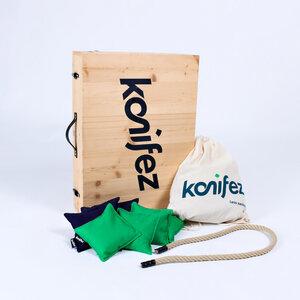 Fairtrade-Cornhole-Komplettpaket KOFFER - konifez®