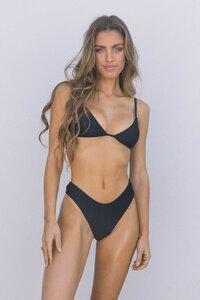 Bikini Top FLOR - BLACK RIB - OCEANCHILD