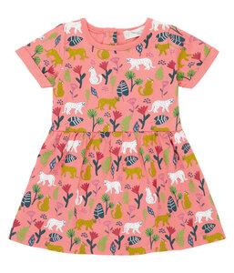 Mädchen Sommerkleid rot gemustert Biologisch Sense Organics - sense-organics