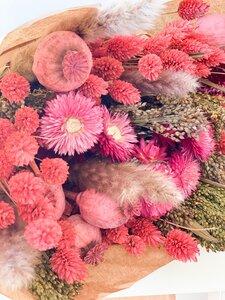Großer Trockenblumenstrauß Mary in Rosa - Blooms 'n' Stories