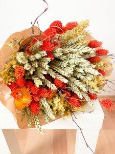 Großer Trockenblumenstrauß Happy in orange - Blooms 'n' Stories