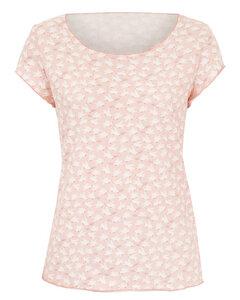 BIO Shirt - Kurzarm - weiße Tauben auf rosa - æbletræ