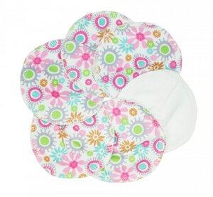 Nursing Pads Cotton Pink flower, Stilleinlagen waschbar, 3 Paar - ImseVimse