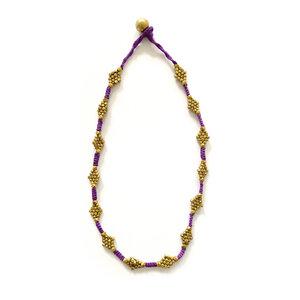 """Dokra Kette """"purple flower"""" - KIKOONI"""