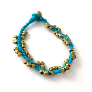 "Dokra Armband ""twisted turquoise"" - KIKOONI"