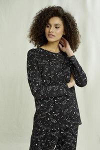 Pyjamaoberteil - Stars Long Sleeve Top - aus Biobaumwolle - People Tree