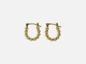 Mini-Kreolen mit aufgereihten Perlen // Gold // Klein - FOLKDAYS
