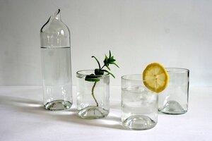 """Set Karaffe mit 4 Trinkgläsern """"Die Familie"""" - Wandelwerk"""