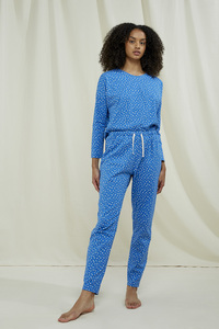 Pyjamahose - Hearts Pyjama Trousers - aus Biobaumwolle - People Tree