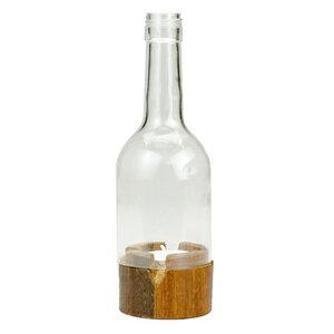Upcycling Kerzenhalter - Insight - Grün/Klar - Weinflasche - Chako Zanzibar