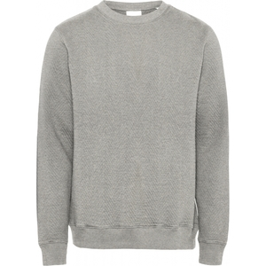 Elm quilted O-neck Sweater - KnowledgeCotton Apparel