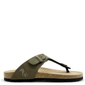 Vegane thies ® Eco Bio Thong Sandale aus rec. PET mit Kork-Tieffussbett - thies