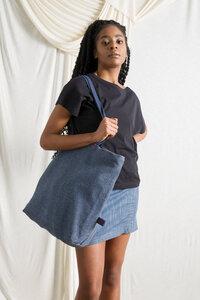 Recycelt Denim Maxi-Shopper Ines - Rifò - Circular Fashion