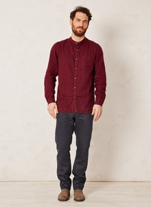 Solid Grandpa Shirt Burgundy - Braintree
