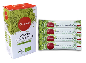 Quertee® - Japan Bio Matcha Tee im Matcha Stick - Matcha to go - 10 x 1 g im Dosierstick - Quertee