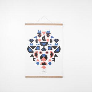 Set / Kids Shapes Poster + Posterleiste Eiche A2 - Kleinwaren / von Laufenberg