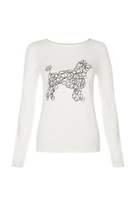 Scribble Dog Long Sleeve Tee - People Tree
