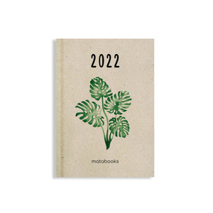 Nachhaltiger Kalender aus Graspapier A6 - Samaya 2022 (DE/EN) - Matabooks