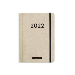 Nachhaltiger Kalender aus Graspapier A5 - Samaya 2022 (DE/EN) - Matabooks