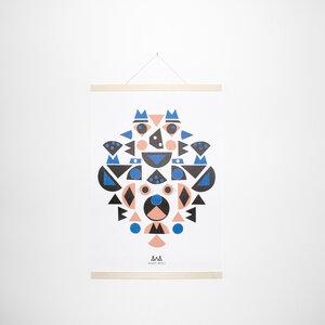 Set / Kids Shapes Poster + Posterleiste Ahorn A2 - Kleinwaren / von Laufenberg