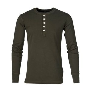 Rib Knit Henley Langarmshirt - KnowledgeCotton Apparel