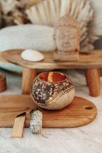 Maya Coconut Candle Holder I Hochwertiger Kokosnuss Teelichthalter - Balu Bowls