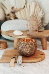 Hippie Coconut Candle Holder I Hochwertiger Kokosnuss Teelichthalter - Balu Bowls