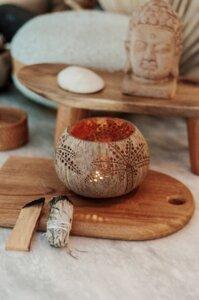 Palm Coconut Candle Holder I Hochwertiger Kokosnuss Teelichthalter - Balu Bowls