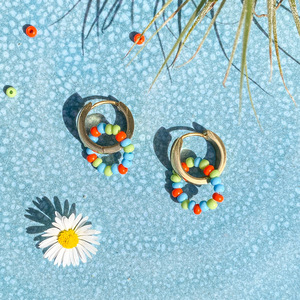 Marilis Ohrringe - vergoldete Creolen CANDY SUN - Marilis