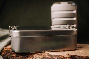 Brotdose XL, Lunchbox aus Weißblech - tindobo