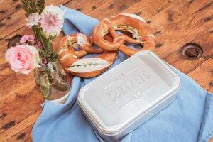 "Edelstahl Lunchbox ""Brotzeit"", rostfrei - tindobo"