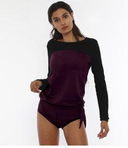 LAIA - Rundhals Langarmshirt aus Bio Baumwolle - LASALINA